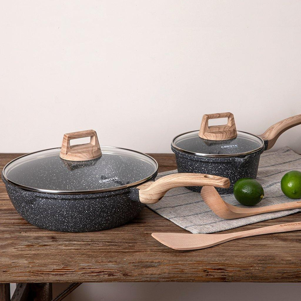 Essential Woody 6 piece cookware set