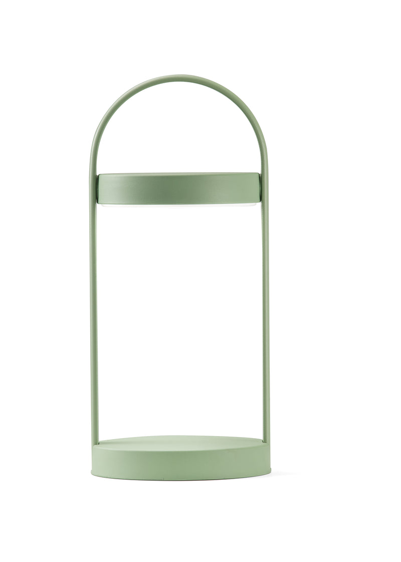 green outdoor lamp with battery