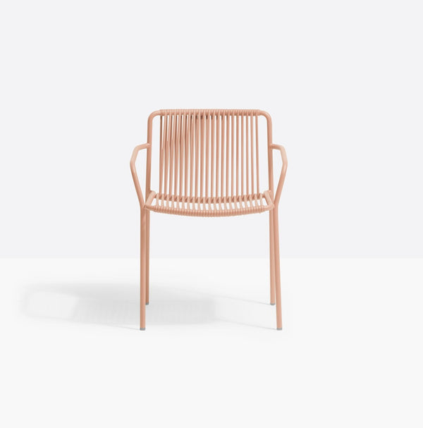PINK GARDEN CHAIR WITH ARMS