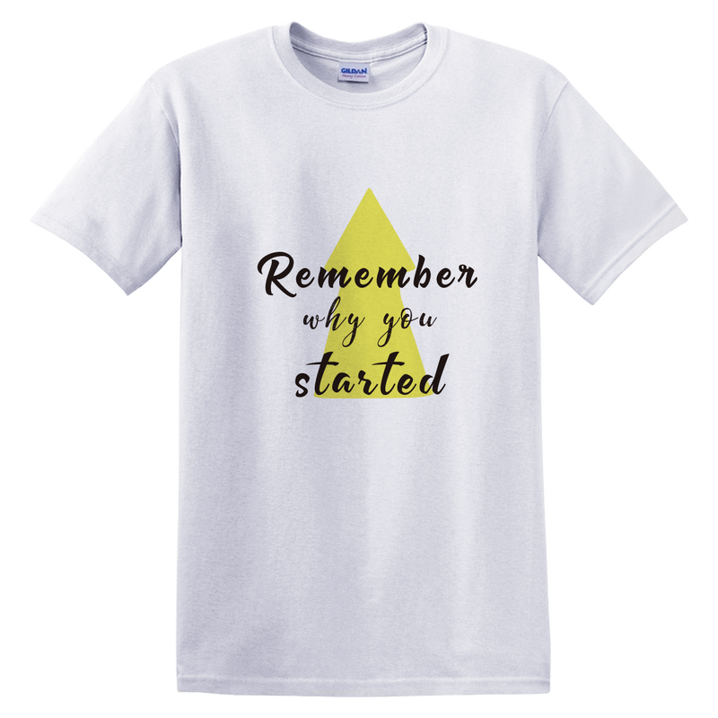 Startup Arrow Remember Why Customize T-Shirt | 初創定制T恤