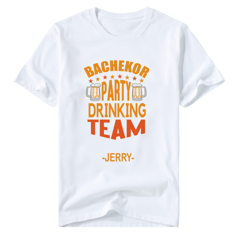 Bachelor Party  Drinking Team Customize T-Shirt | 單身派對定制T恤