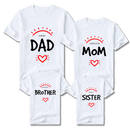 Family Sunshine Heart Customize T-Shirt (Set of 4) | 一家人定制T恤 (4件)