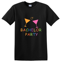 Bachelor Party  Wine Glass Customize T-Shirt | 單身派對定制T恤