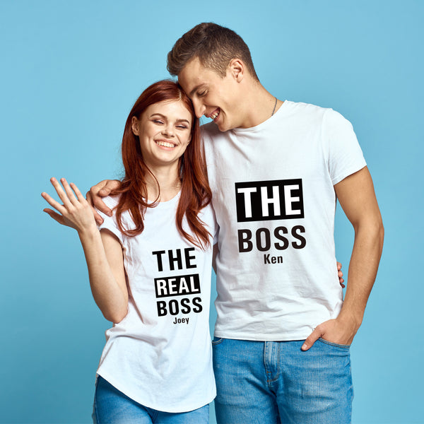 BOSS 純棉180克情侶T恤(一件價錢)|BOSS 180G Cotton Couple Tee(1 Piece Price) | 可訂製加名