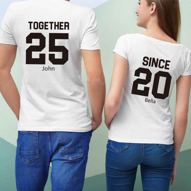TOGETHER SINCE 純棉180克情侶T恤(一件價錢)|TOGETHER SINCE 180G Cotton Couple Tee(1 Piece Price) | 可訂製加名