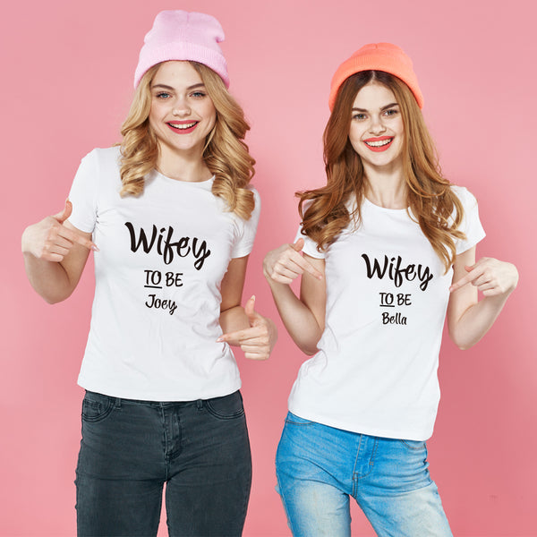 Wifey 純棉180克情侶T恤(一件價錢)|Wifey 180G Cotton Couple Tee(1 Piece Price) | 可訂製加名