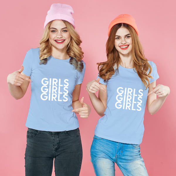 GIRLS 純棉180克情侶T恤(一件價錢)|GIRLS 180G Cotton Couple Tee(1 Piece Price) | 可訂製加名