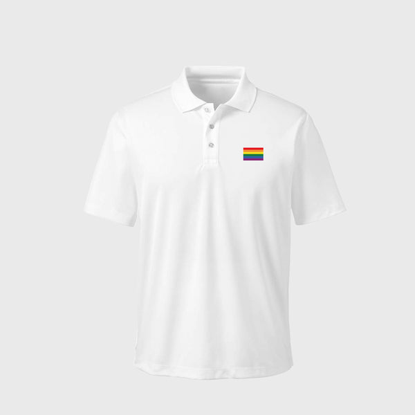 Rainbow Flag 195克優質Polo衫|Rainbow Flag 195G Polo Shirt | 繡花個性設計