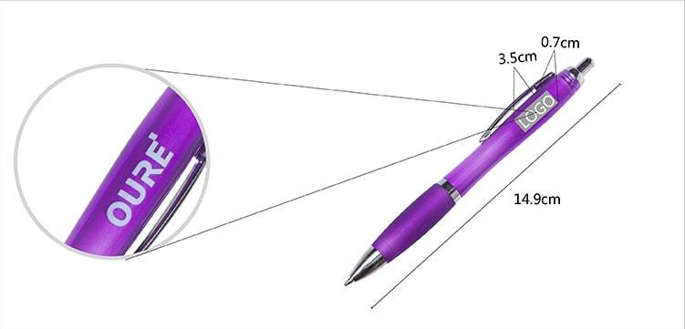 1 Color Metal Hook Advertising Pen
