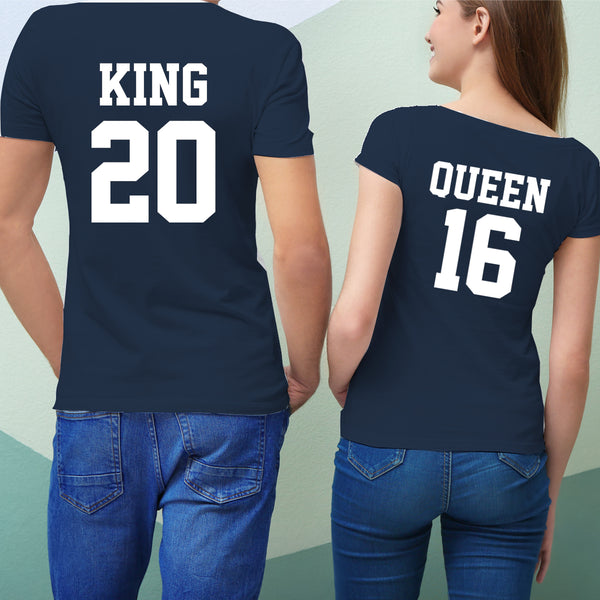 K & Q 純棉180克情侶T恤(一件價錢)|K & Q 180G Cotton Couple Tee(1 Piece Price) | 可訂製加名