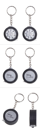 1m Tire Tape Measure Keychain