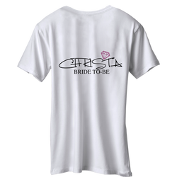 Bridal Shower Pink Diamond Customize T-shirt | 單身派對T恤定制 | 新娘T恤定制