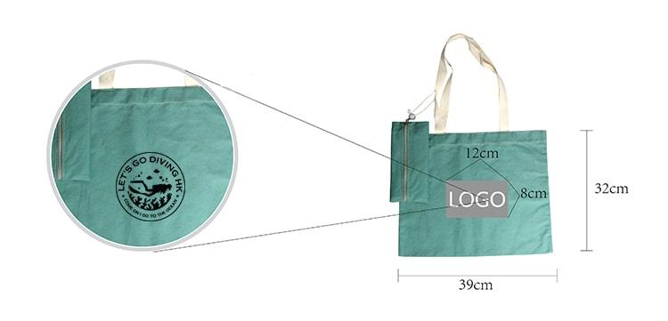 Cotton bag set of 2 bags