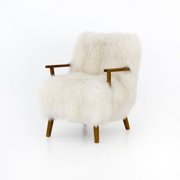 Armchair in Mongolian Fur