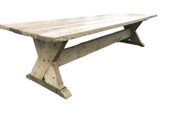 French Farm table antique from Bordeaux region.