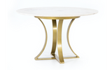 Table Round,  Marble-Top with Gold Iron Base 60