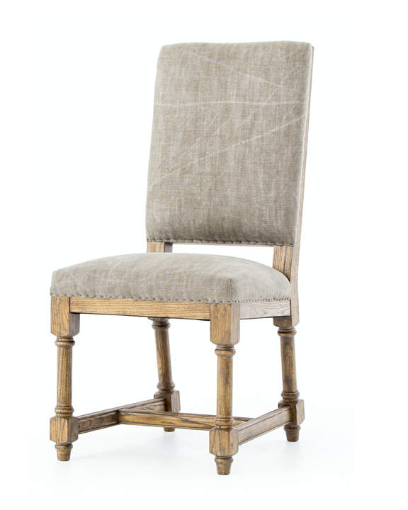 High Back Chair in Natural Oak
