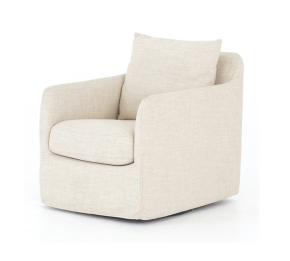 Swivel Armchair with Linen