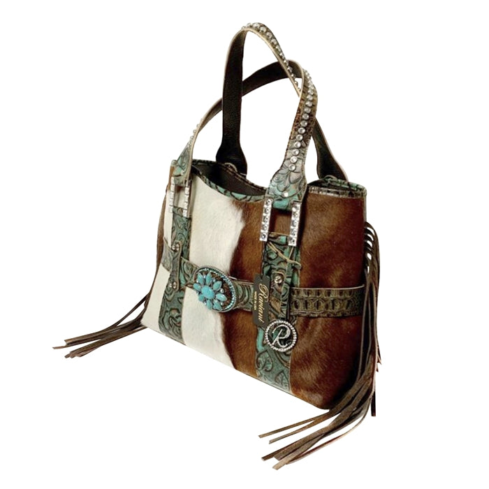 Large shoulder bag with Fringe