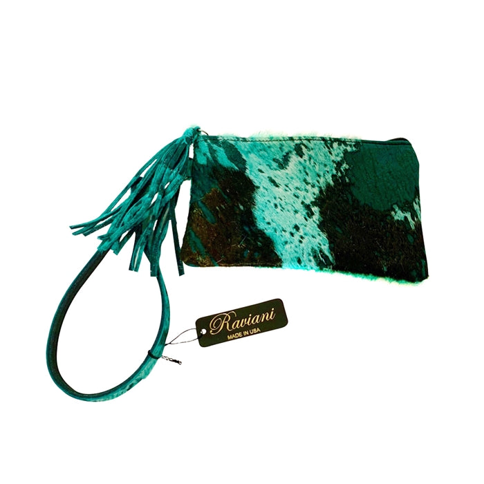 Leather Clutch Wristlet