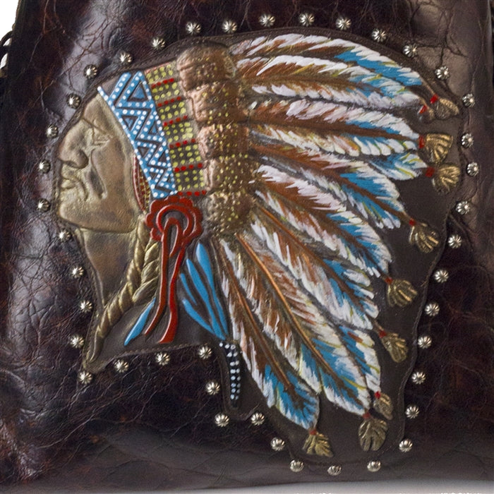 Indian Chief hand painted
