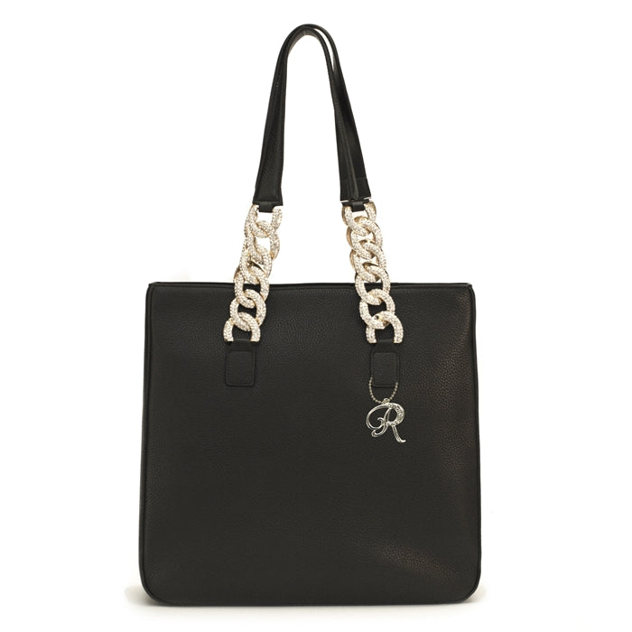 1501- Large Tote W/ crystal Chains