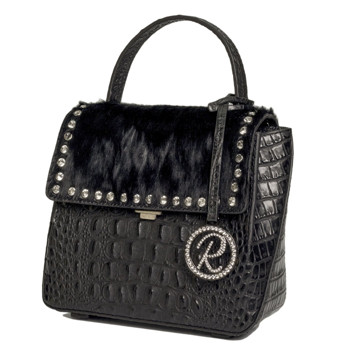15297-3D Black with Crystals