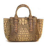 15302-1B-Brown Crocodile & Crystal Concho