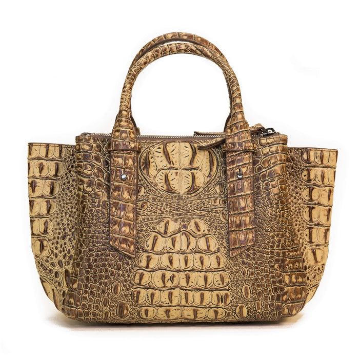 15302-1BRH-Brown Crocodile & Square Crystals