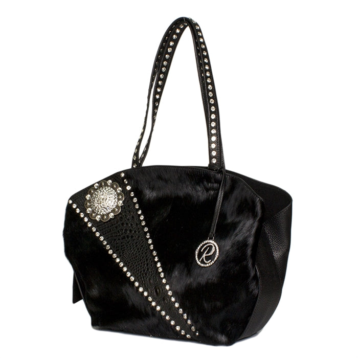 16286-1A-BLACK W/ Crystals & Concho