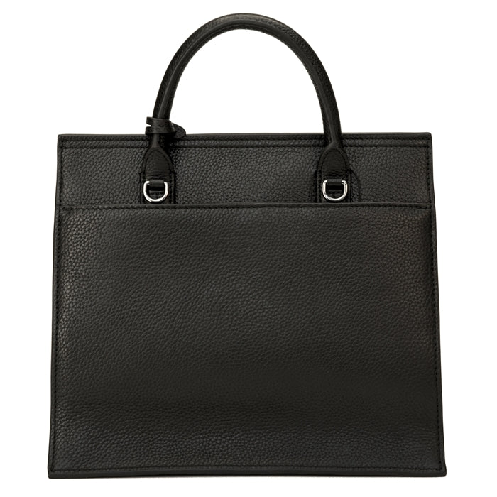 17109-1A-Black Hair on & Pebble Grain Leather