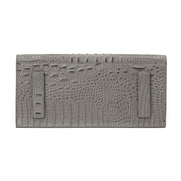 17109-1GC-Gray Hair on & Croco Embossed Leather