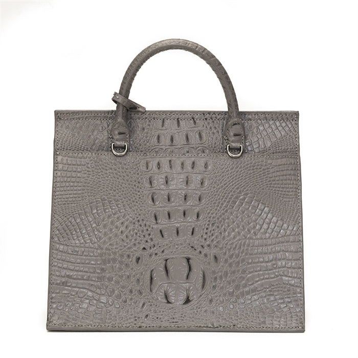 17109-1GC- Gray Crocodile & Gray Hair on Leather