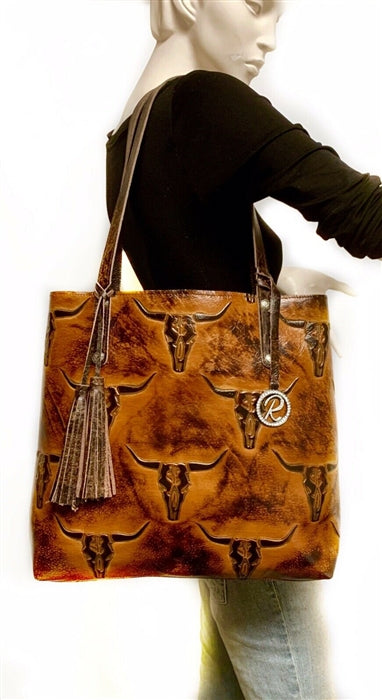 The Sarah Tote- Longhorn