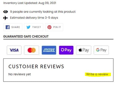 How to leave a Review on ALT Active Products