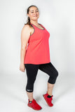 Action Back Singlet in Coral