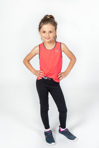 Girls Coral Peach Sports Singlet