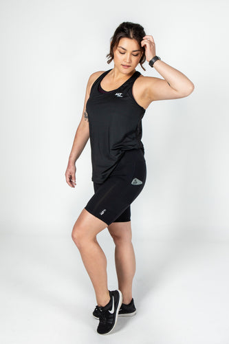Mesh Back Singlet in Black