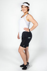 Black Panel Pocket Bike Shorts