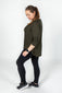 Khaki Long Sleeve Batwing Top