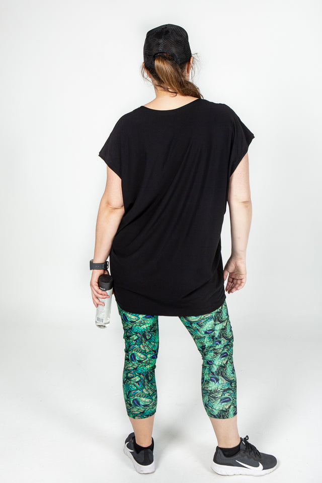 Black Loose Fit Bamboo Tee