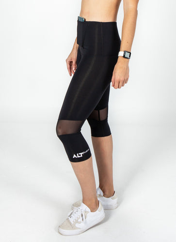 3/4 Mesh Compression Leggings