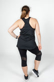 Action Back Singlet in Black