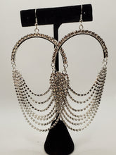 Load image into Gallery viewer, Crystal Drape Earrings