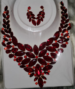 Red Rubies Neckless Set