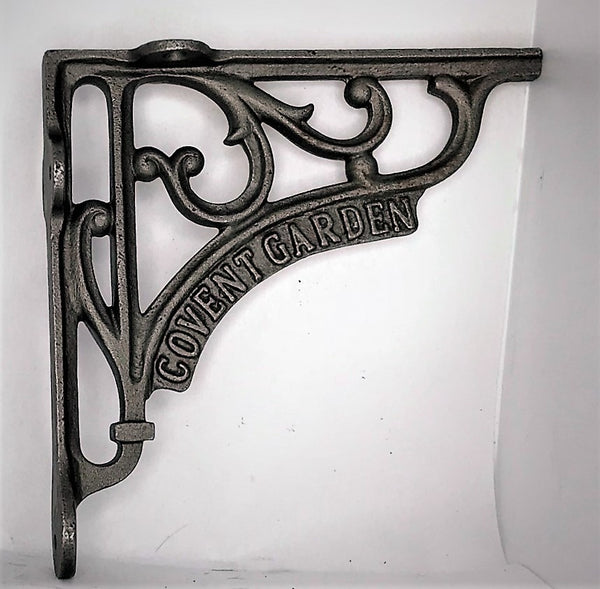 "Cast iron shelf brackets ""Covent Garden"" suitable for 8"""