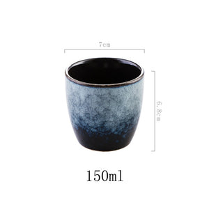 Random Texture Color Glaze cups 150ml