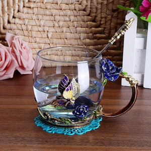 Flower Glass Cup