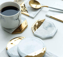Load image into Gallery viewer, Nordic White Marble Coaster