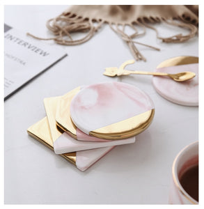 Nordic Pink Marble Coaster